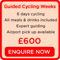guided cycling holidays spain