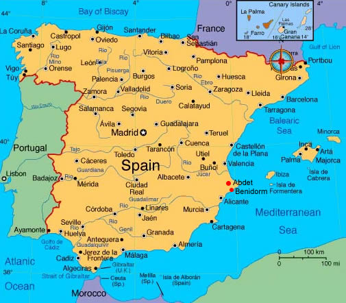 Map Of Portugal Spain France.Leon Spain Map Imsa Kolese