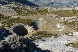 snow hole walk spain costa blanca